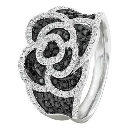 Gorgeous Black Diamond Flower Ring!  Was $1399 (now $899)!