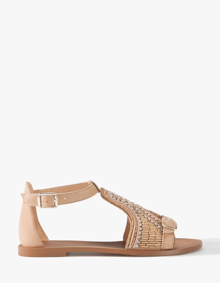 Sandalia piel joya