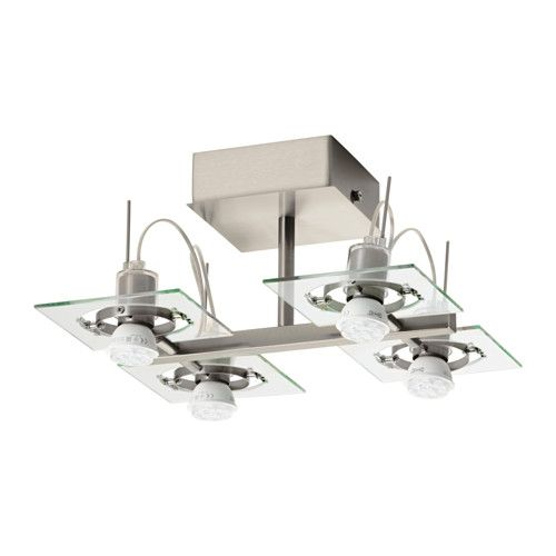 Surface Mount // IKEA - FUGA, Ceiling spotlight with 4 spots,  , , Adjustable spotlights.