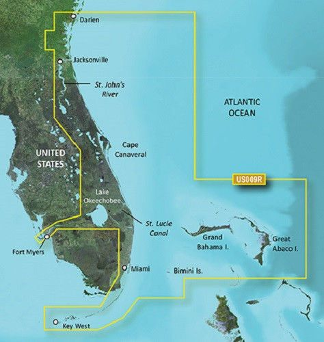 VUS009R - Jacksonville-Key West BlueChart g2 Vision HD Garmin 010-C0710-00