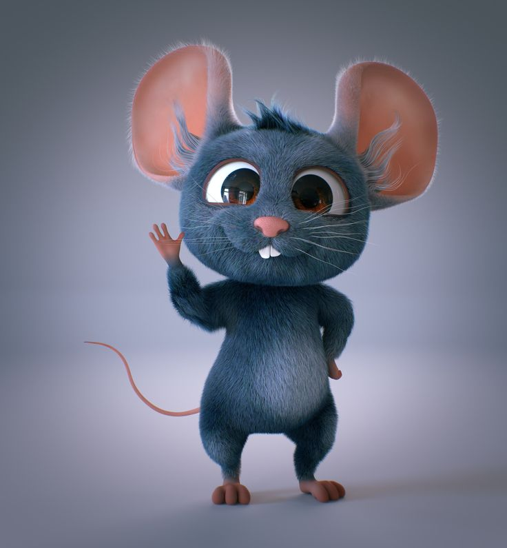 Картинка прикольной мышки
