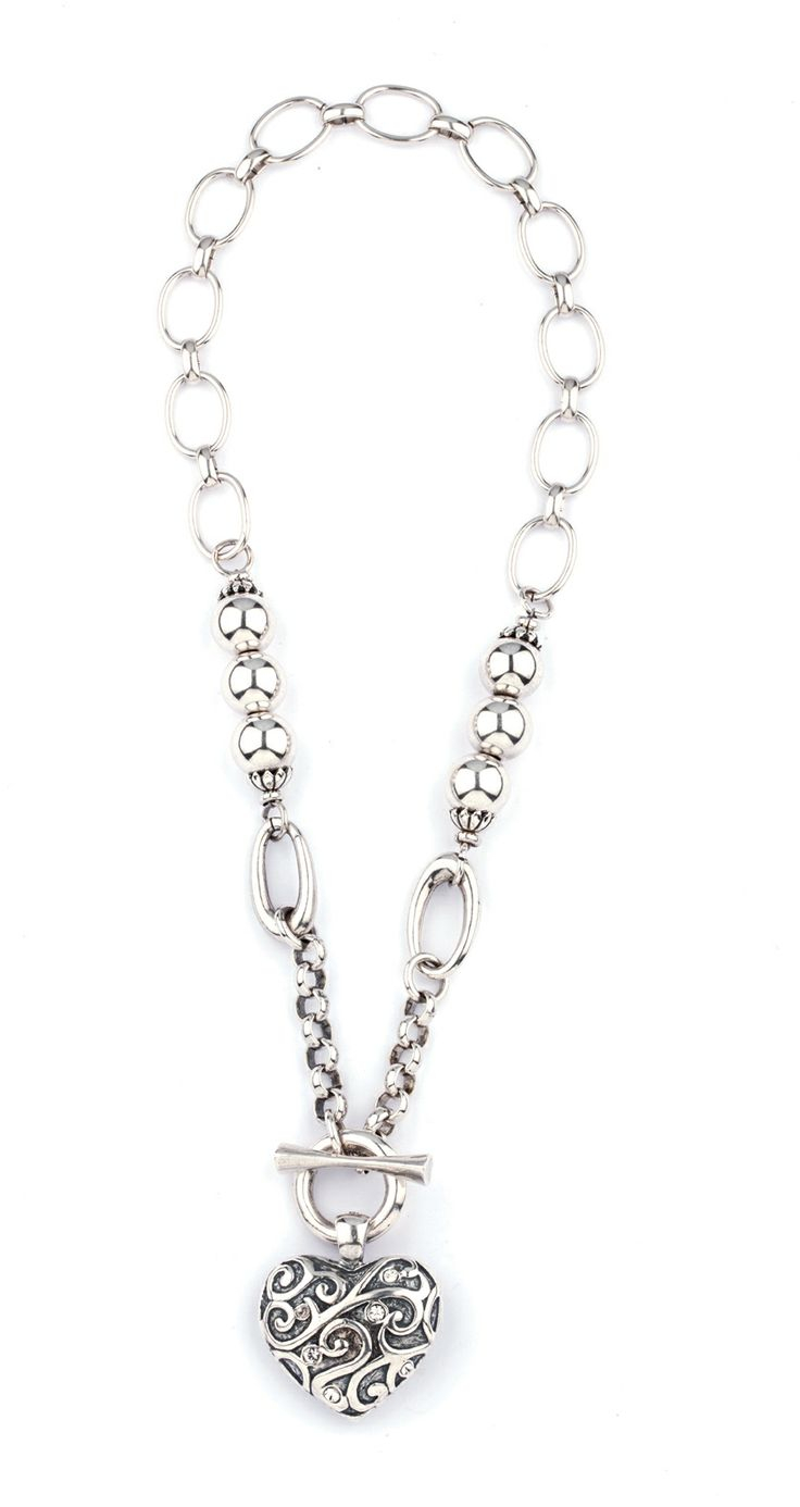N1412 love it contemporary mixed chain £35.00 complete with burnished heart enhancer EN985 £30.00