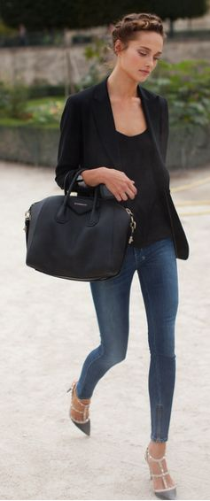 25  best ideas about Black Blazer Jeans on Pinterest | Black ...