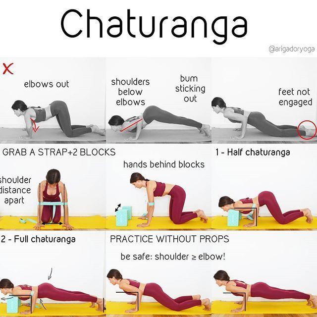 Chaturanga Con Ayuda Chaturanga Es Una Postura Que Suele Aparecer Repetidamente En La Practica Y Que Al Hacerla Ma Bhakti Yoga Yoga Tips Yoga For Beginners