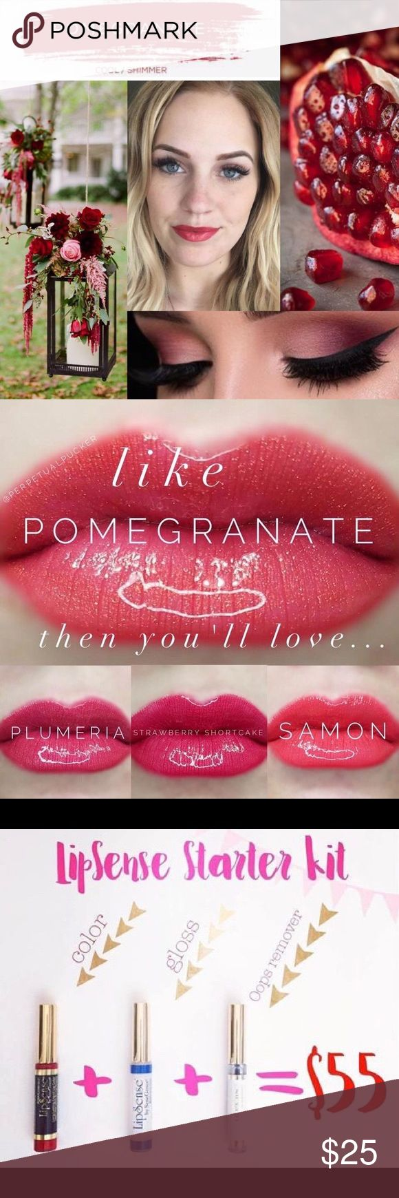 Pomegranate Long lasting lip color🤗 Lasts up to 18 hours❗️Also there are a variety of colors 🌈With this product there is no worries on kissing your loved ones, it's kiss proof💋. No worries on accidentally smudging it off either! Best product I have ever owned😀 Makeup Lipstick