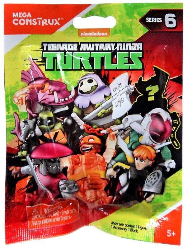 Teenage Mutant Ninja Turtles Animation Series 6 Mystery Pack Mega Blocks Ninja Turtles Ninja Turtle Toys