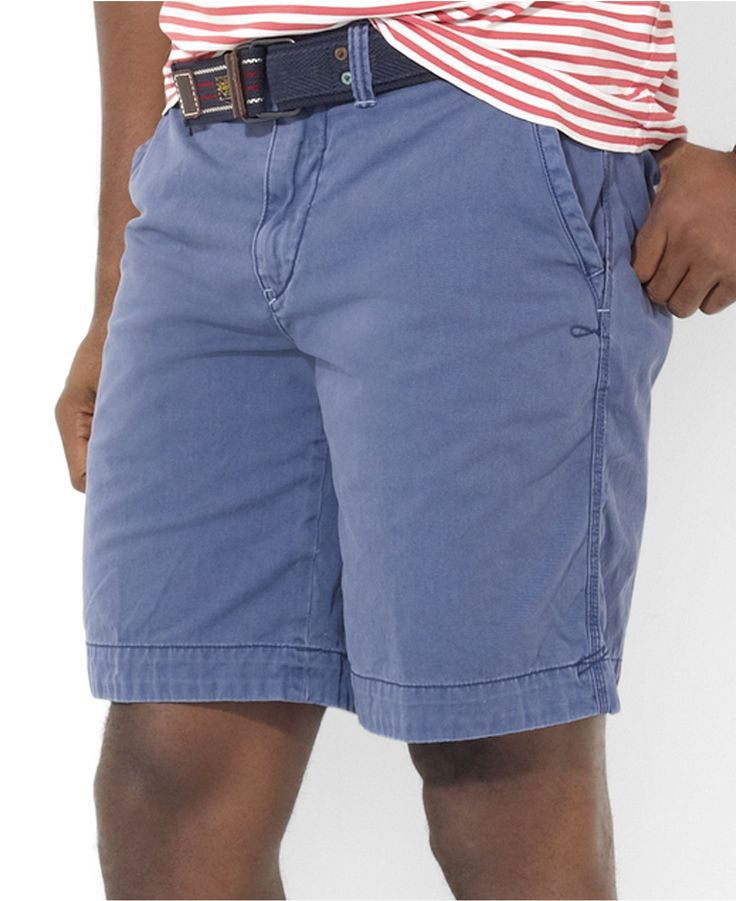 Mens Performance Chino Shorts - 30 - BLUE Lands End 3Hfrskn