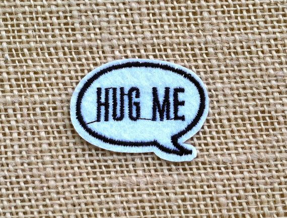 Hey, I found this really awesome Etsy listing at https://www.etsy.com/listing/479781700/punk-patches-for-jackets-hug-me-iron-on