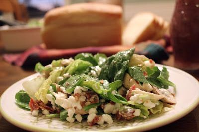 Spinach Salad  1 bunch spinach, cleaned and torn in bite-size pieces  1 head lettuce, in bite-size pieces  ½-1 pkg. bacon, cooked and crum...
