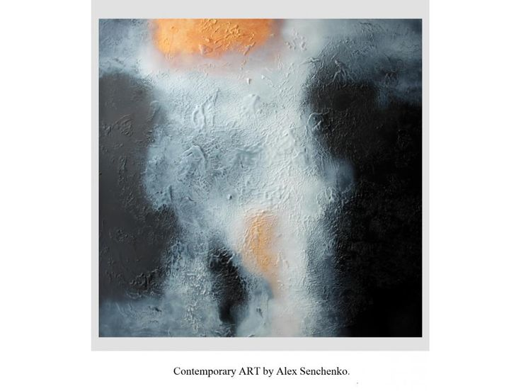 Alex Senchenko abstract painting . Abstract contemporary ART. Original abstract painting. Free Worldwide Shipping .