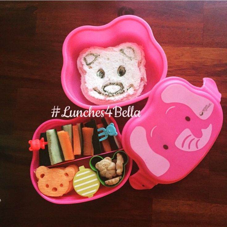 """#lunches4bella bear themed bento lunch in On Safari lunchbox """"If you go into the woods today..."""""""
