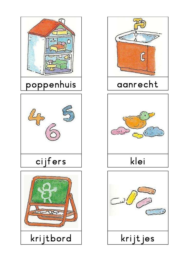 Woordkaarten Bas 'De groepsruimte' 1