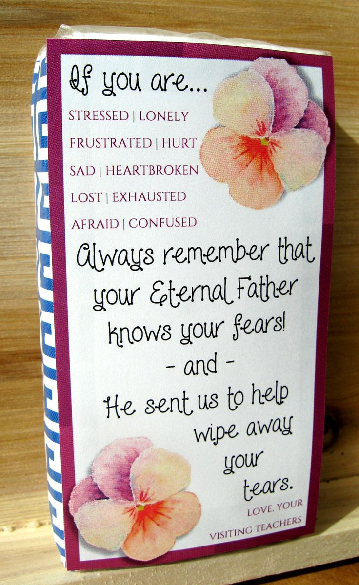 348 best visiting teaching ideas images on pinterest church april 2016 visiting teaching cute printable for a mini kleenex packet negle Image collections