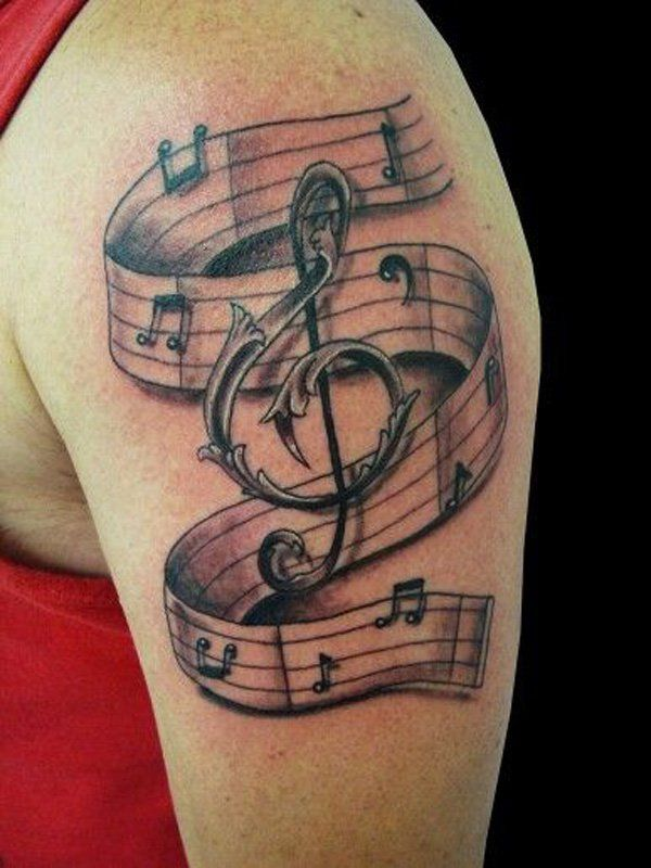 Music Notes Tattoo Designs For Men