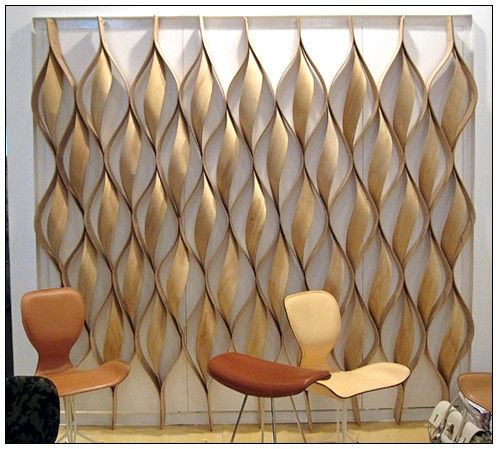 Wooden screen - but could recreate for a party with crêpe paper or fabric.