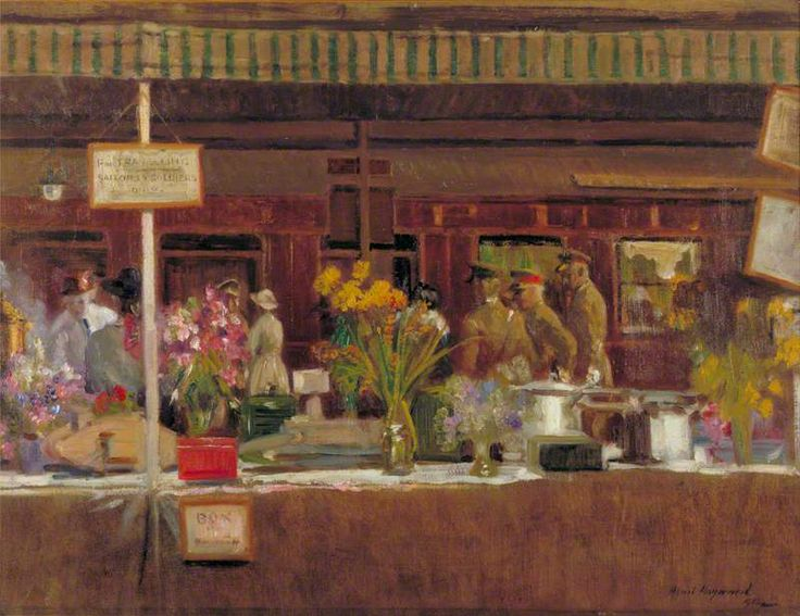 The Soldiers' Buffet, Charing Cross Station by Alfred Robert Hayward. Date painted: 1918