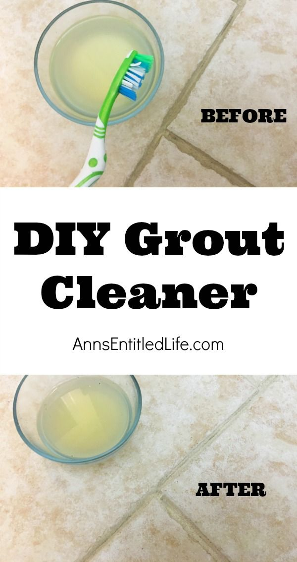 how to clean grout with natural products
