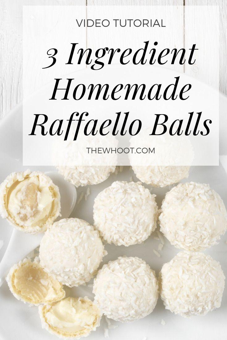 Homemade Raffaello Balls Recipe Easy The Whoot Coconut Desserts Coconut Almond Macaroon Recipes