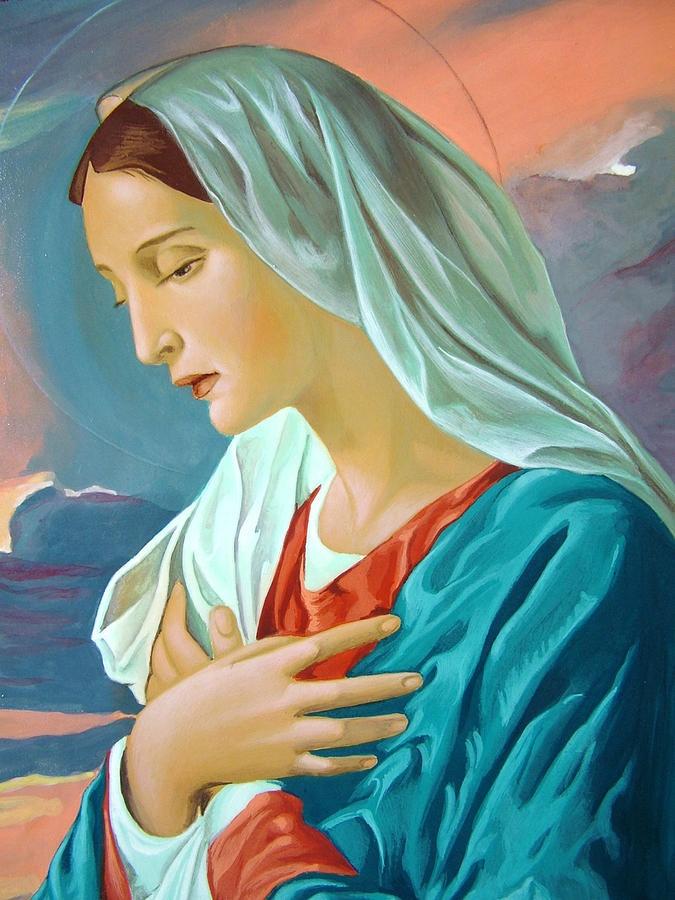 Virgin Mary Painting  - Virgin Mary Fine Art Print