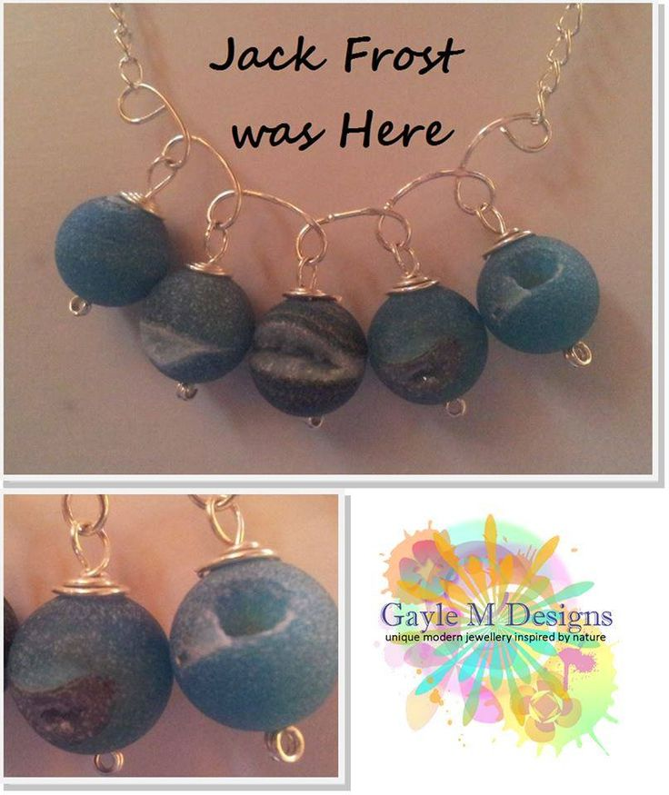 Handmade by Gayle M Designs Jack Frost was Here necklace Hand formed sterling silver necklace on sterling silver chain featuring five frost agates.
