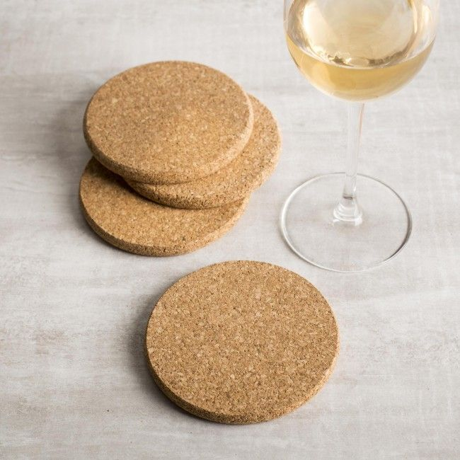 Protect your table and prevent water rings with these simple, lightweight cork coasters.