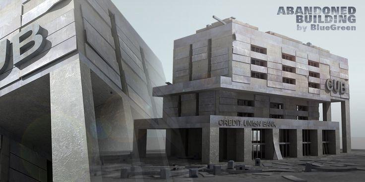 Abandoned Building 3D 3Ds - 3D Model