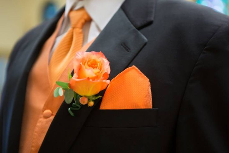 Orange color tie