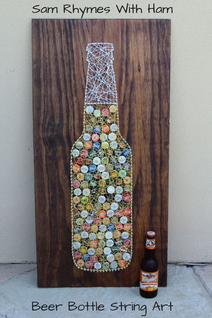 Beer Bottle String Art Tutorial                                                                                                                                                                                 More
