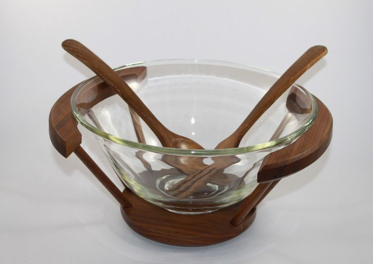 A personal favorite from my Etsy shop https://www.etsy.com/ca/listing/509134685/midcentury-glass-salad-bowl-with-wooden