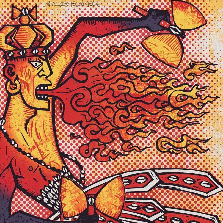 #kawo #kaô #shango #Xangô #yoruba #orisha #orixa #candomble #umbanda #santeria #vudu #voodoo #firegod #obáinã #obánixékaôkabiecilé #maferefun #laosha #laregladeocha #lukumi #ketu #andrehoraart