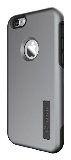 TOTU Dual-Layer TPU Bumper Case for Apple Iphone 6/ 6S - Space Gray/Black, 2016 Amazon Top Rated Cell Phones & Accessories  #Electronics