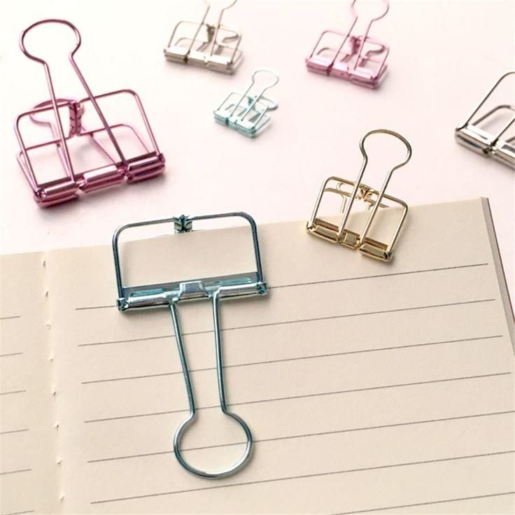 Creative Cute Kawaii Colorful Metal Paper Clips For Ticket File School Supplies Korean Stationery Free Shipping 681-in Clips from Office & School Supplies on Aliexpress.com | Alibaba Group
