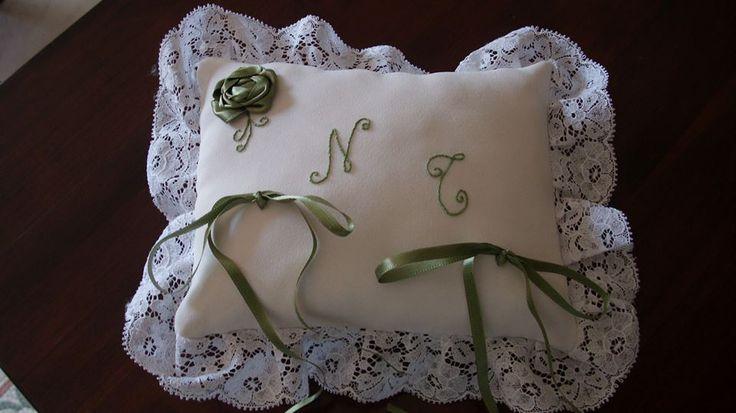 ring bearer pillow hand-picked