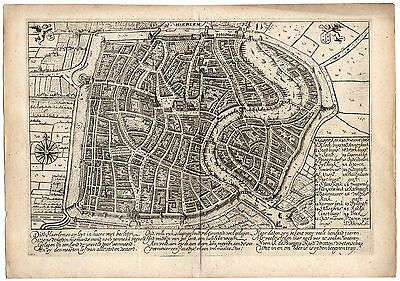 Old Map of Harrlem Holland
