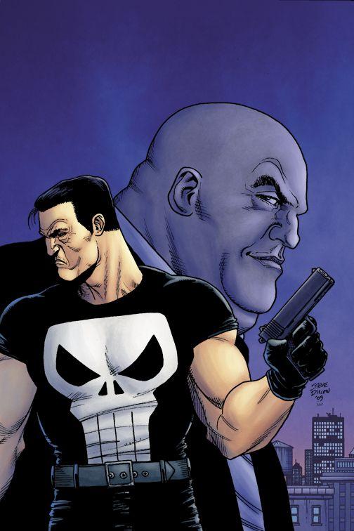 The Punisher vs. The Kingpin.