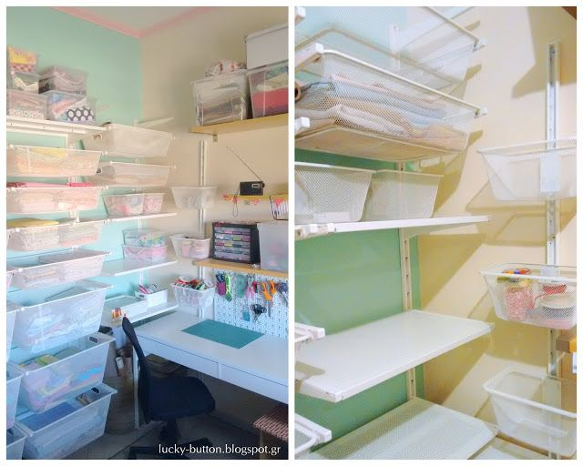 smart storage solutions for craft - sewing room