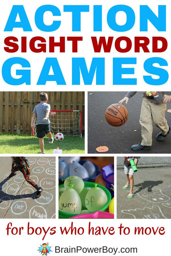 Action Sight Word Games for Boys Who Have to Move!