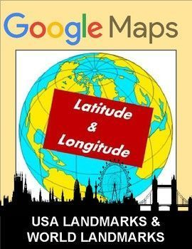 These latitude and longitude worksheets can be used with Google Maps, Google Earth or other maps. Students are to find the landmarks or country located at each set of coordinates.