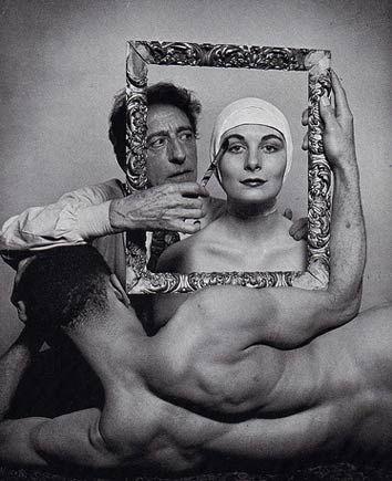 Interesting photo - jeudi 12 janvier 2012  Jean Cocteau avec Ricki Soma et Leo Coleman, Philippe Halsman 1949