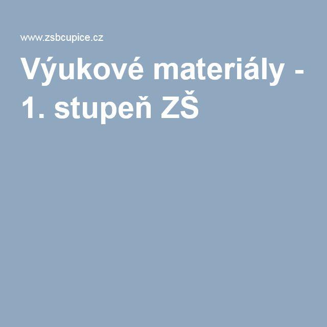Výukové materiály - 1. stupeň ZŠ