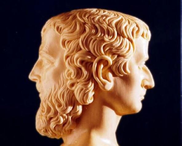 January is named after the Roman god Janus. He had two faces to see the future and the past.