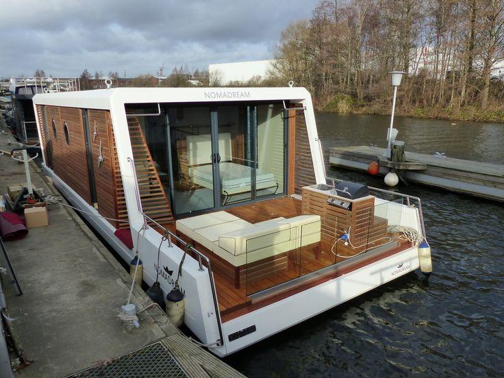 die besten 25 ponton hausboot ideen auf pinterest hausboote schwimmende h user und. Black Bedroom Furniture Sets. Home Design Ideas