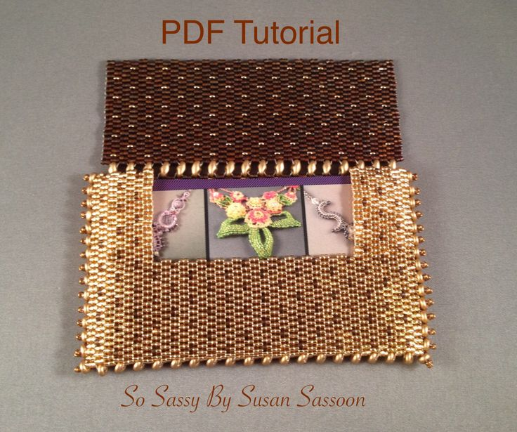 Beaded Business Card Holder With Superduos Tutorial Vb Did