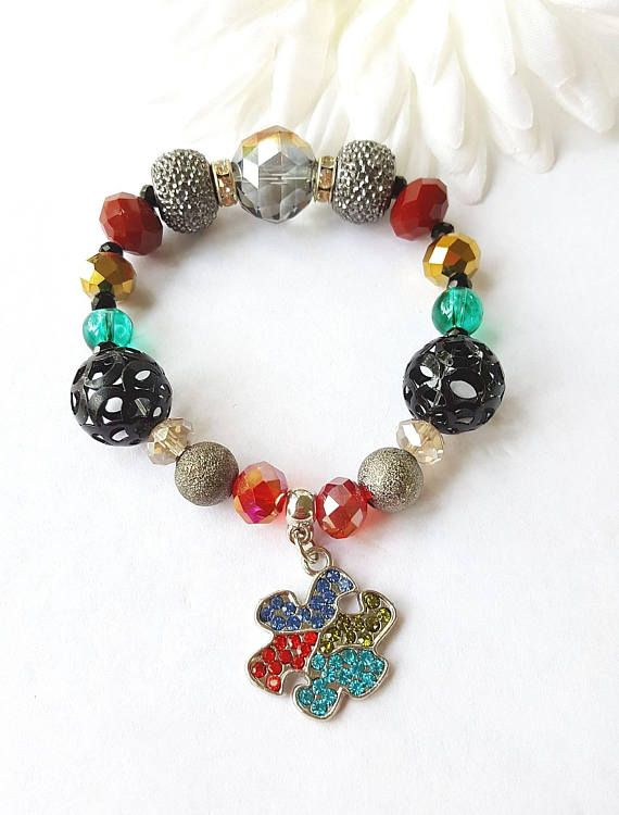 Autism Awareness Bracelet https://www.etsy.com/listing/483666517/autism-awareness-bracelet-autism-support