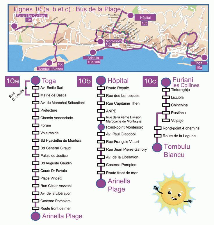 Bus de la plage gratuits / Trasporti di rigalu per andà à u mare - Communauté Agglomération Bastia - Corse