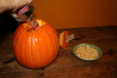 Still have pumpkins in the yard?  It's a great time to make pumpkin liqueur!  The Country Tart will show you how :)