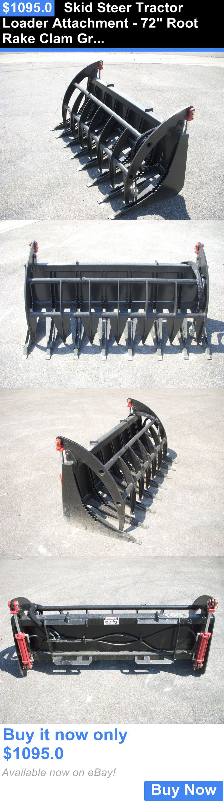 heavy equipment: Skid Steer Tractor Loader Attachment - 72 Root Rake Clam Grapple - Ship $199 BUY IT NOW ONLY: $1095.0
