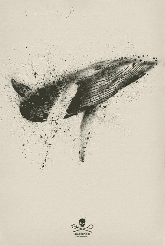 Ink Blot whale. Possible tattoo design?