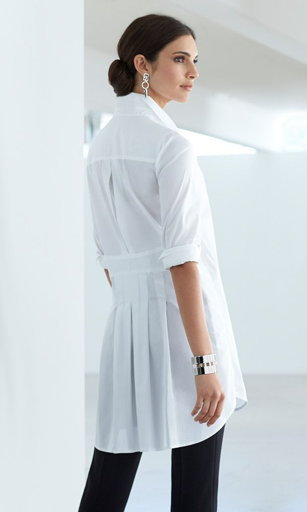 Black Label - The Pleated Back Shirt Pretty pleats give this white button down a modern makeover.