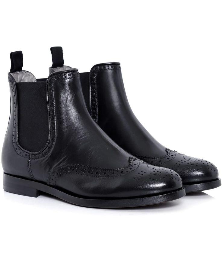 Asta Brogue Chelsea Boots